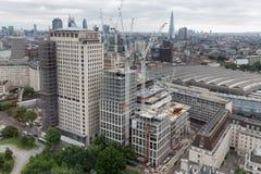 Budowa nowy drapacz chmur w Londyńskim mieście Fotografia Royalty Free