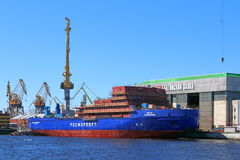 Budowa nowy icebreaker LK-25 Obraz Stock