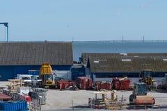Budowa nowy most obrazy stock