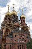 Budowa nowy ortodoksyjny kościół, kończy pracuje Obraz Stock