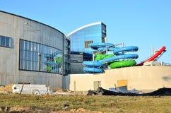 Budowa nowy pływacki basen Zdjęcie Stock