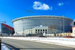 Budowa nowy stadium dla 2018 światowych mistrzostwo futbolu piłek nożnych Fotografia Royalty Free
