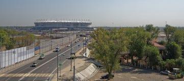 Budowa nowy stadium dla 2018 FIFA pucharu świata Mo Zdjęcie Stock