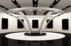 budowa obramia przestrzeń galerii przestrzeń royalty ilustracja