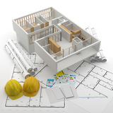 Budowa Odnawialny Real Estate w Europa i usa Royalty Ilustracja