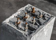 Budowa Piller obraz stock