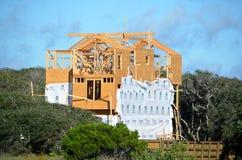 budowa plażowy dom Zdjęcia Royalty Free