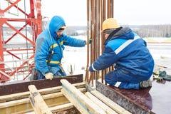 Budowa placu budowy pracownicy obrazy stock