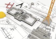 Budowa plan Fotografia Royalty Free