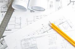 Budowa planistyczni rysunki Obraz Royalty Free