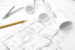 Budowa planistyczni rysunki royalty ilustracja