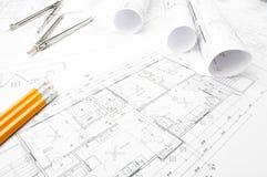 Budowa planistyczni rysunki Obrazy Royalty Free