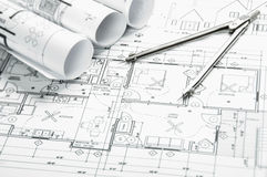 Budowa planistyczni rysunki ilustracji