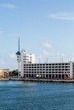 Budowa Pod Portowej ochrony budynkiem Obrazy Royalty Free