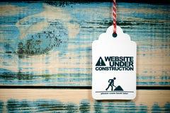budowa pod stroną internetową Fotografia Stock