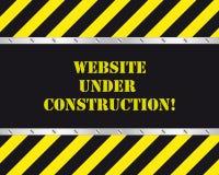 budowa pod stroną internetową Obrazy Royalty Free
