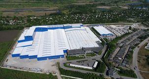 Budowa powierzchowność wielka nowożytna produkci roślina, fabryka, lub zbiory wideo