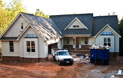 budowa przodu dom nowy fotografia stock