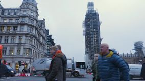 Budowa przy Big Ben zdjęcie wideo