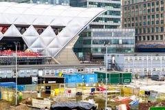 Budowa przy Crossrail miejscem w Canary Wharf Zdjęcia Stock