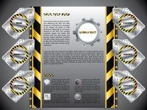 budowa przylepiać etykietkę strona internetowa ilustracji