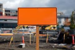budowa pusty znak Obraz Royalty Free