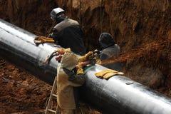 Budowa rurociąg naftowy zdjęcia stock