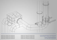 Budowa rysunki 3D metalu budowa ilustracji
