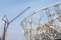 Budowa stadion futbolowy dla pucharu świata 2018, Rosja, Volgograd Obraz Stock
