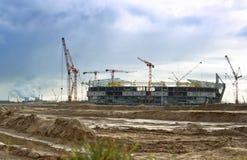 Budowa stadium Zdjęcia Stock