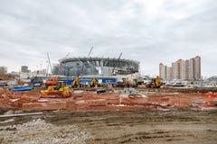 Budowa stadium dla pucharu świata Fotografia Royalty Free