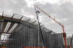 Budowa stadium dla pucharu świata Zdjęcie Royalty Free