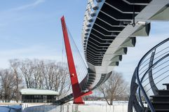 Budowa szczegóły i linie nowożytny zwyczajny most Obraz Royalty Free