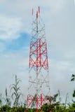 Budowa telefoniczni słupy Zdjęcie Stock