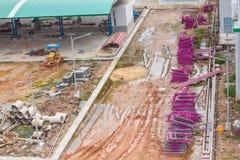 Budowa terenu buiding inżynieria Obrazy Stock