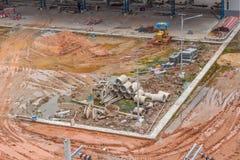 Budowa terenu buiding inżynieria Zdjęcia Royalty Free