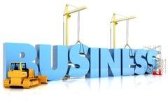 Budować twój biznes Obrazy Royalty Free