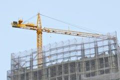 budowa żuraw Zdjęcia Royalty Free