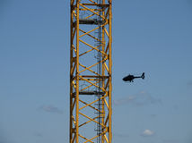 Budowa żuraw Fotografia Stock