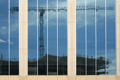 Budowa żuraw. Zdjęcia Stock