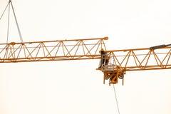Budowa żuraw na zmierzchu Zdjęcie Royalty Free