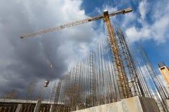 Budowa żurawi sylwetki Fotografia Stock