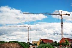 Budowa żurawie Zdjęcie Royalty Free