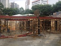 budowa ustanowione cegieł na zewnątrz miejsca Obrazy Royalty Free