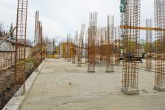 budowa ustanowione cegieł na zewnątrz miejsca Zdjęcia Stock