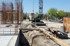 budowa ustanowione cegieł na zewnątrz miejsca Zdjęcie Royalty Free