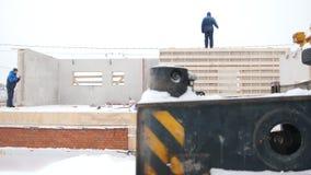 budowa ustanowione cegieł na zewnątrz miejsca Ludzie stoi na podstawie budynku dom zbiory