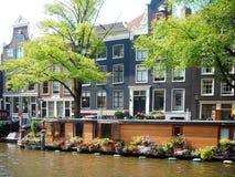 Budować w Amsterdam wody ulicie Zdjęcie Stock