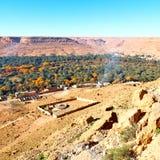 budowa w dolinnym Morocco Africa atlant sucha góra Obrazy Royalty Free