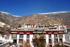 Budować w Drepung monasterze Zdjęcie Royalty Free